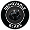 Removable blade