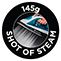 145g shot of steam