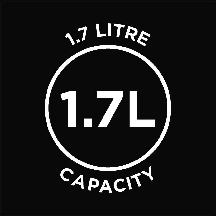 1.7L capacity