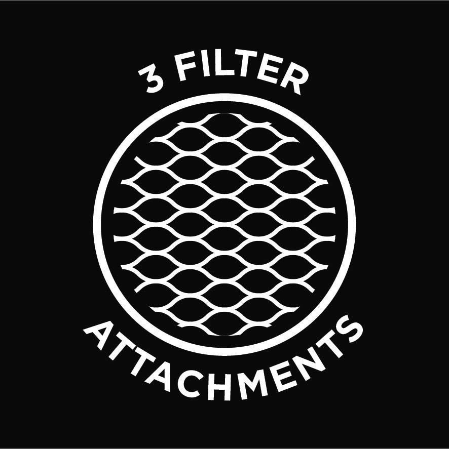 3 filter attachments