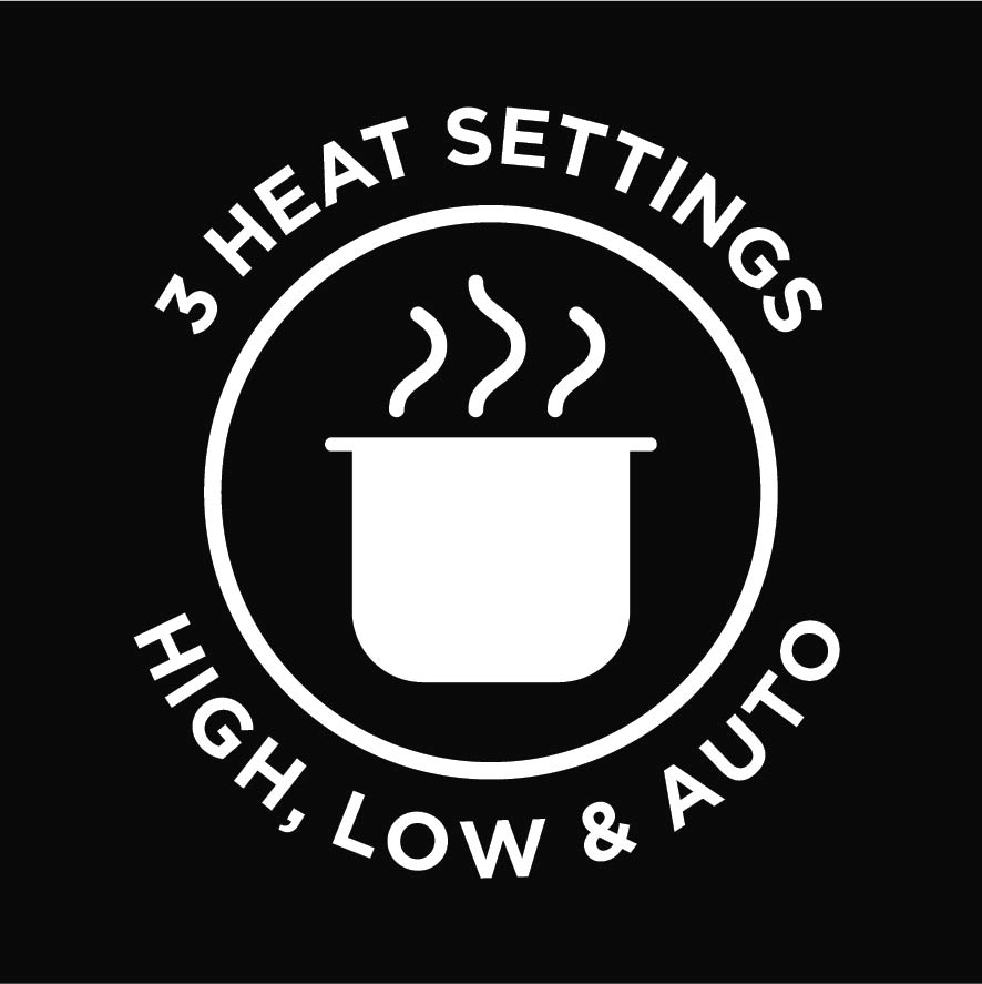 3 Heat Settings High Low Auto