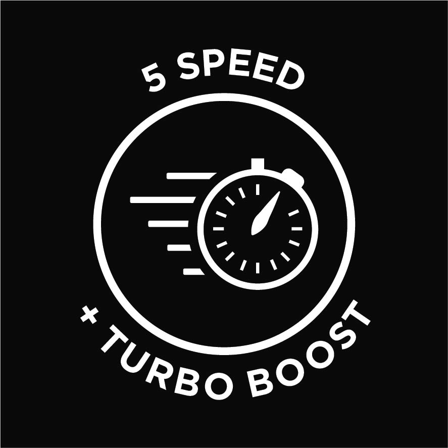 5 speed + turbo boost