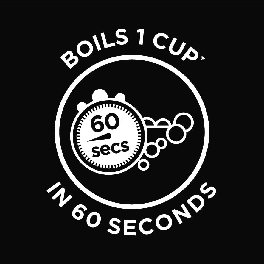 boil 1 cup in 60 seconds