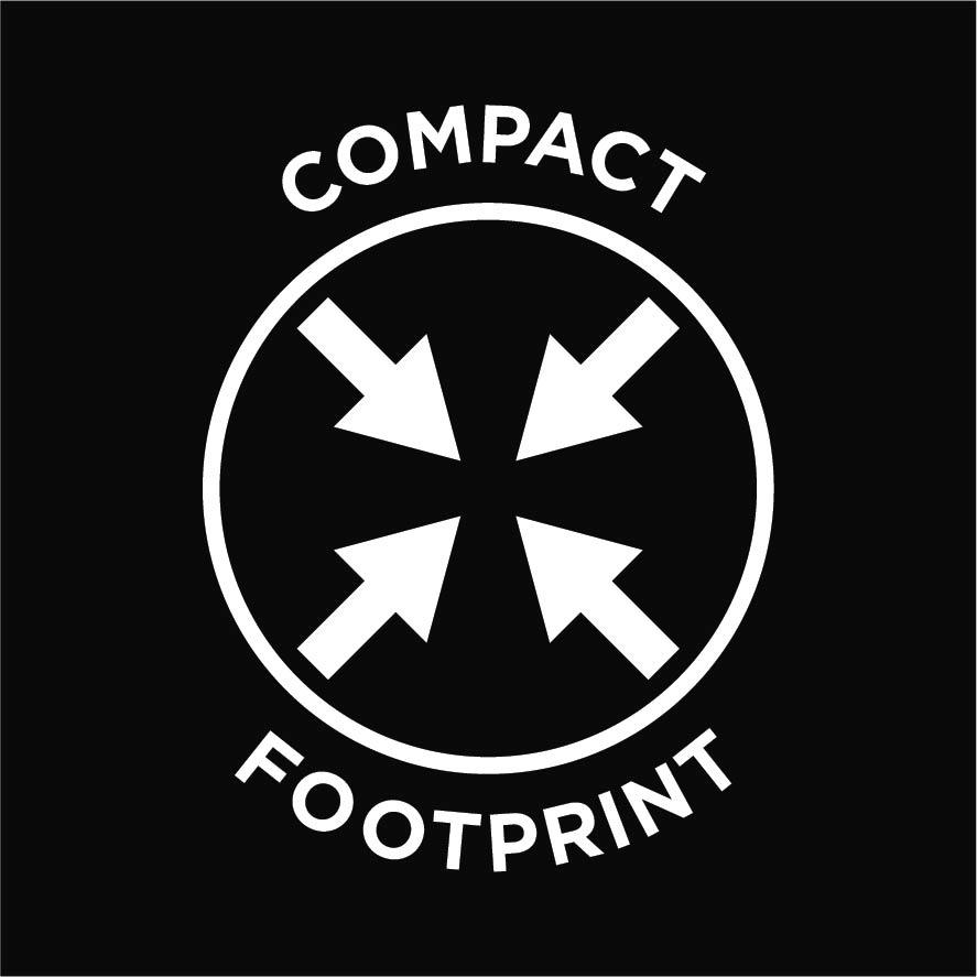 compact footprint