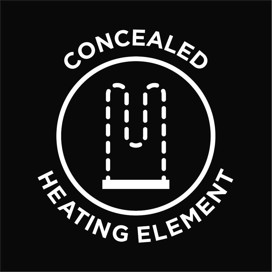 Concealed heating element