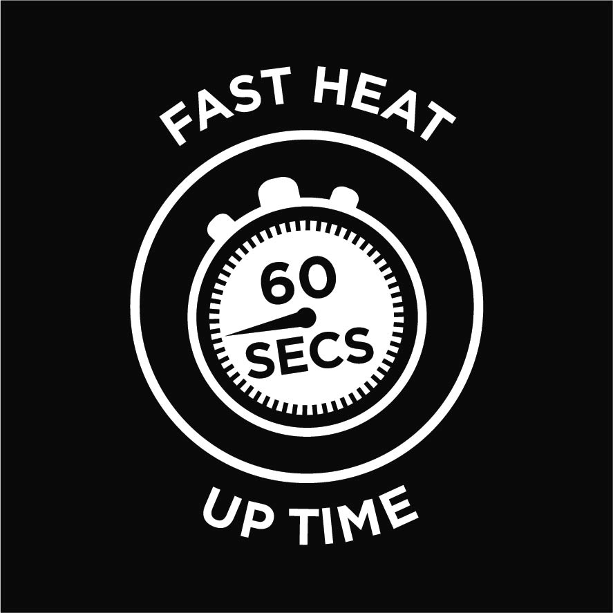 60 Seconds Fast Heat Up Time