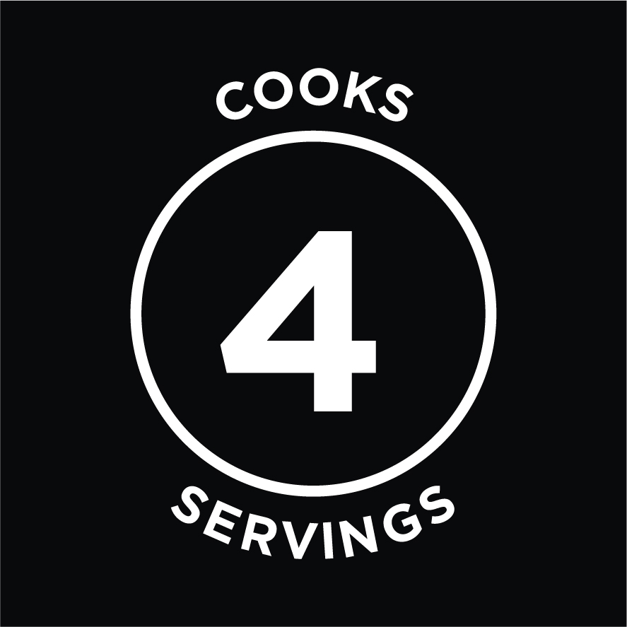 Cooks 4 Servings