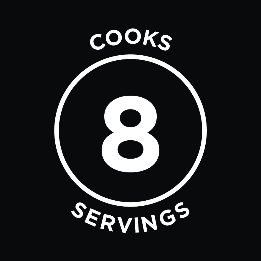 Cooks 8 Servings