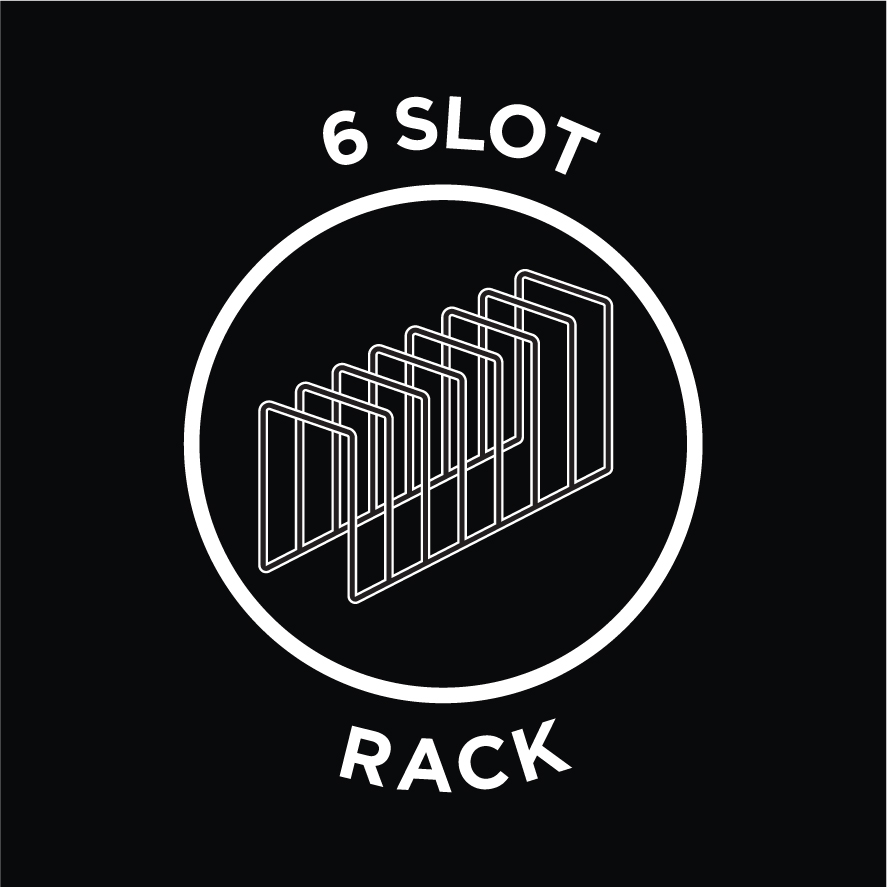 Includes 6 Slot Rack