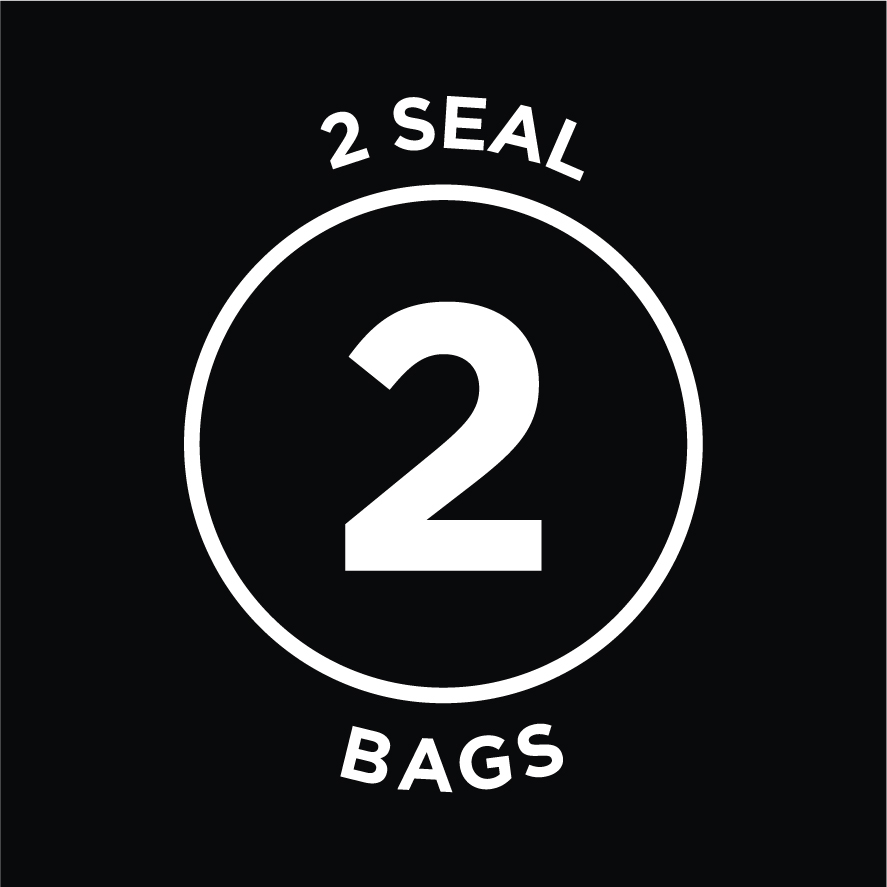 Includes 2 Seal Bags