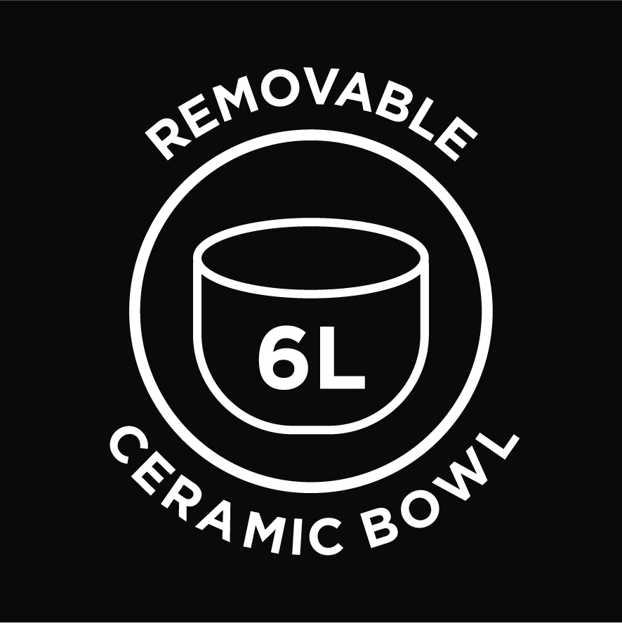 6L Removable Ceramic Bowl