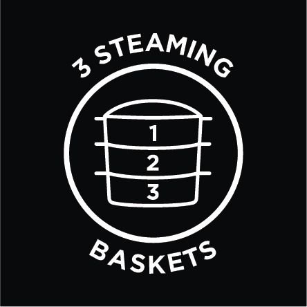 3 Steaming Baskets