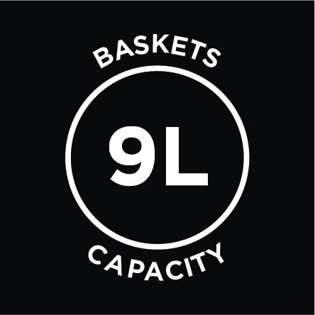 9L Basket Capacity