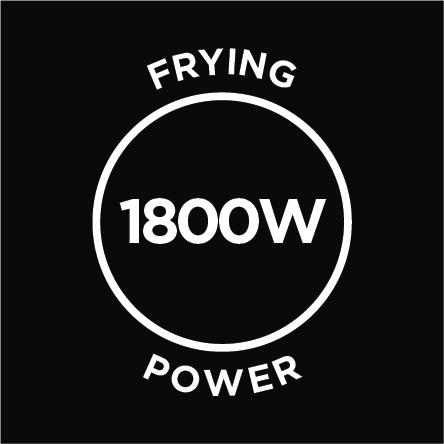 1800W Frying Power