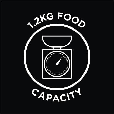 1.2kg Food Capacity