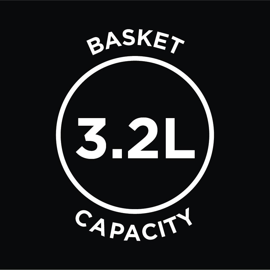 3.2L Basket Capacity