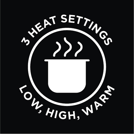3 Heat Settings - Low, High & Keep Warm