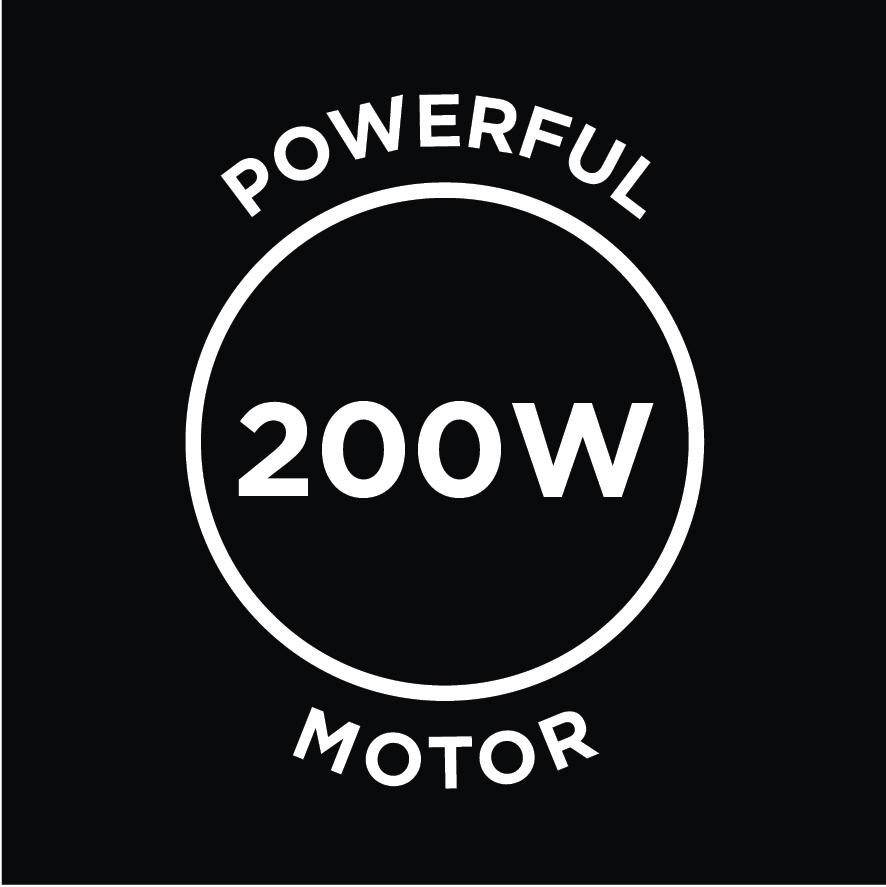 Powerful 200W Motor