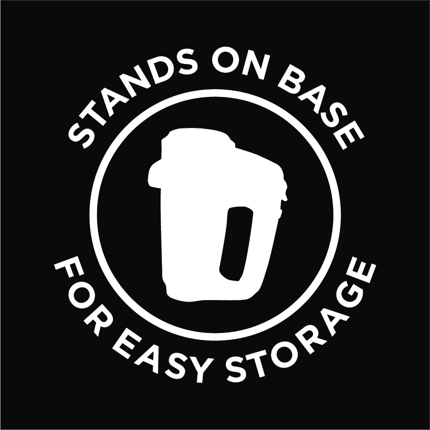 Stands on Base Easy Storage