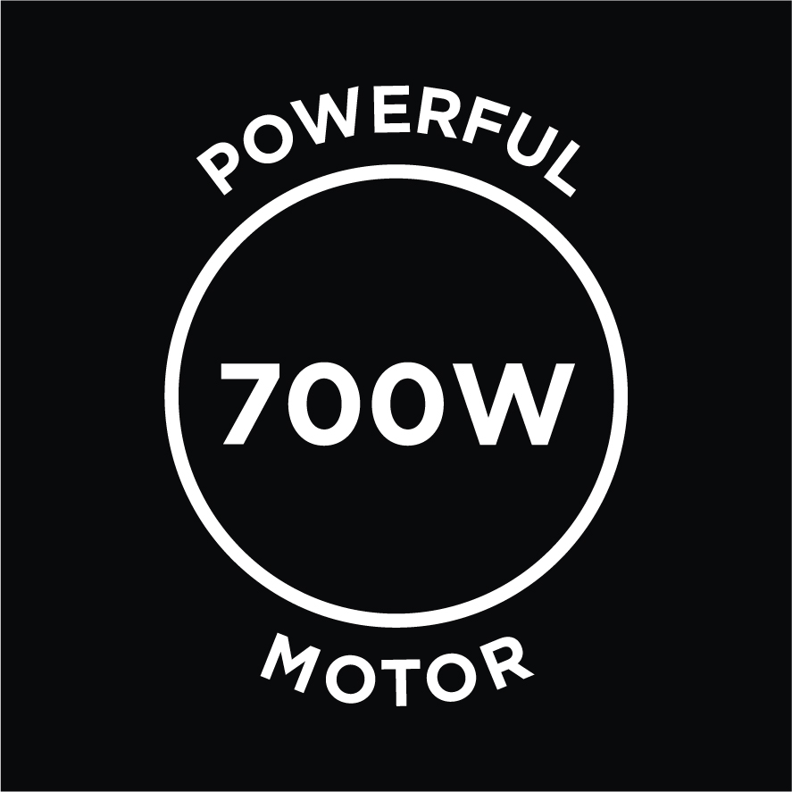 Powerful 700w Motor