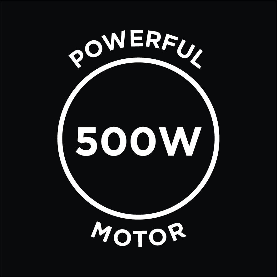 Powerful 500w Motor