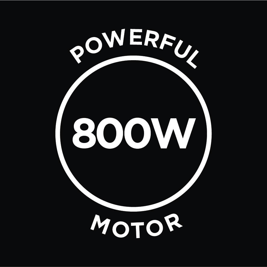 Powerful 800W Motor