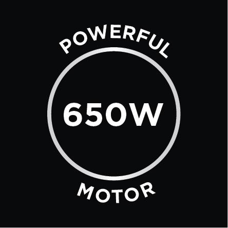 Powerful 650W Motor