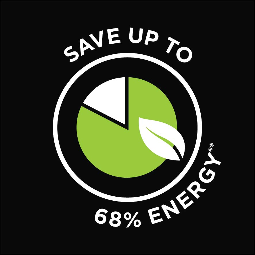 save up to 68% energy