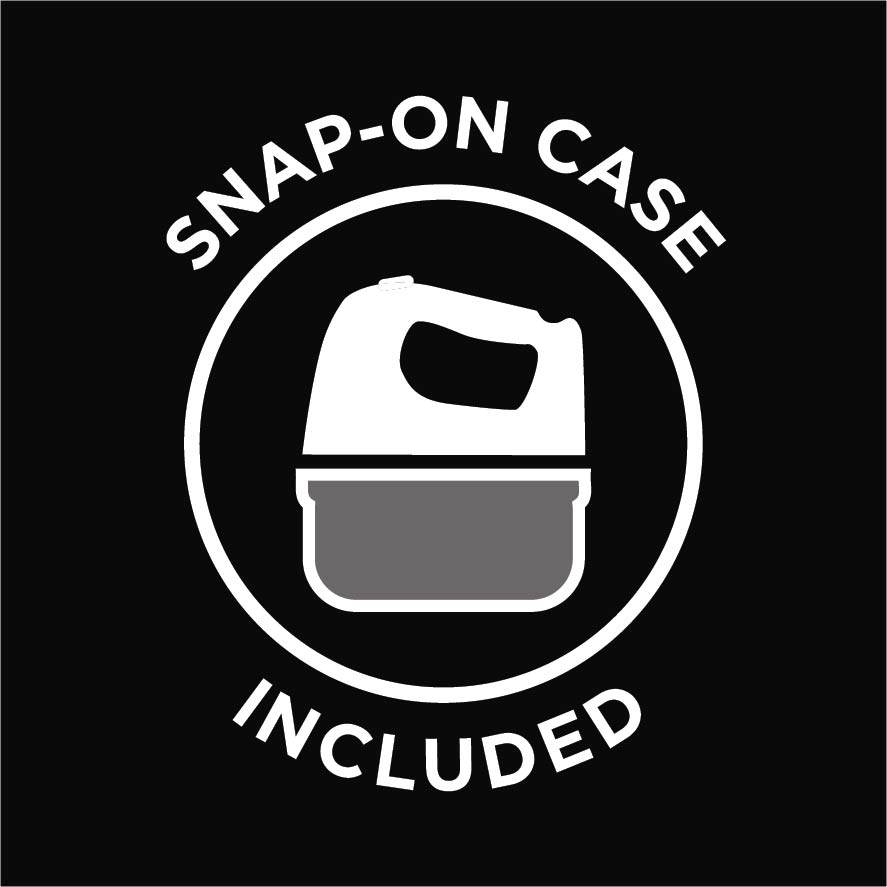 Snap on case included