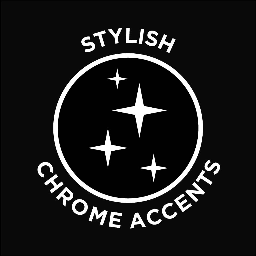 Stylish chrome accents