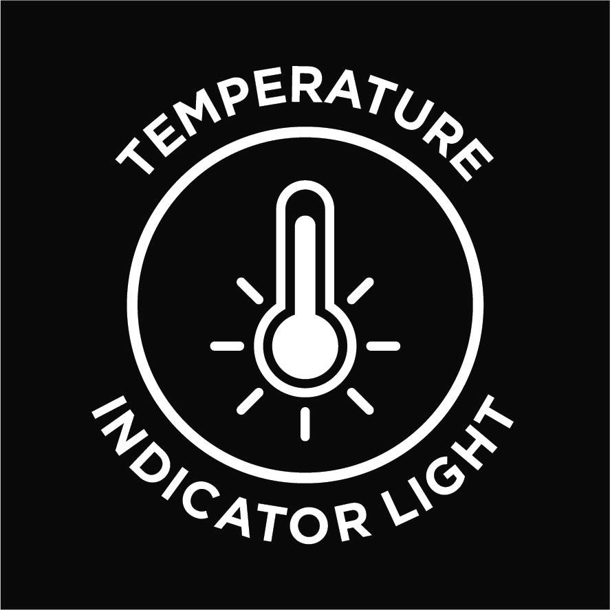 Temperature indicator light