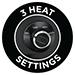 3 Heat Settings