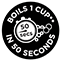 Boils 1 Cup in 50 Seconds