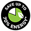 Save 70 percent Energy