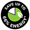 Save 66 percent Energy
