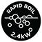 Ebullición Rápida 2,4 kW