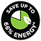 Save Up to 66 percent Energy