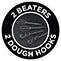 3 Beaters - 2 Dough Hooks