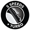 5 Speeds Turbo