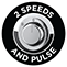 2 rýchlosti a pulzná funkcia