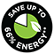 Save up to 66% energy