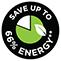 Spart bis zu 66 % Energie*