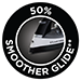 50% Smoother Glide