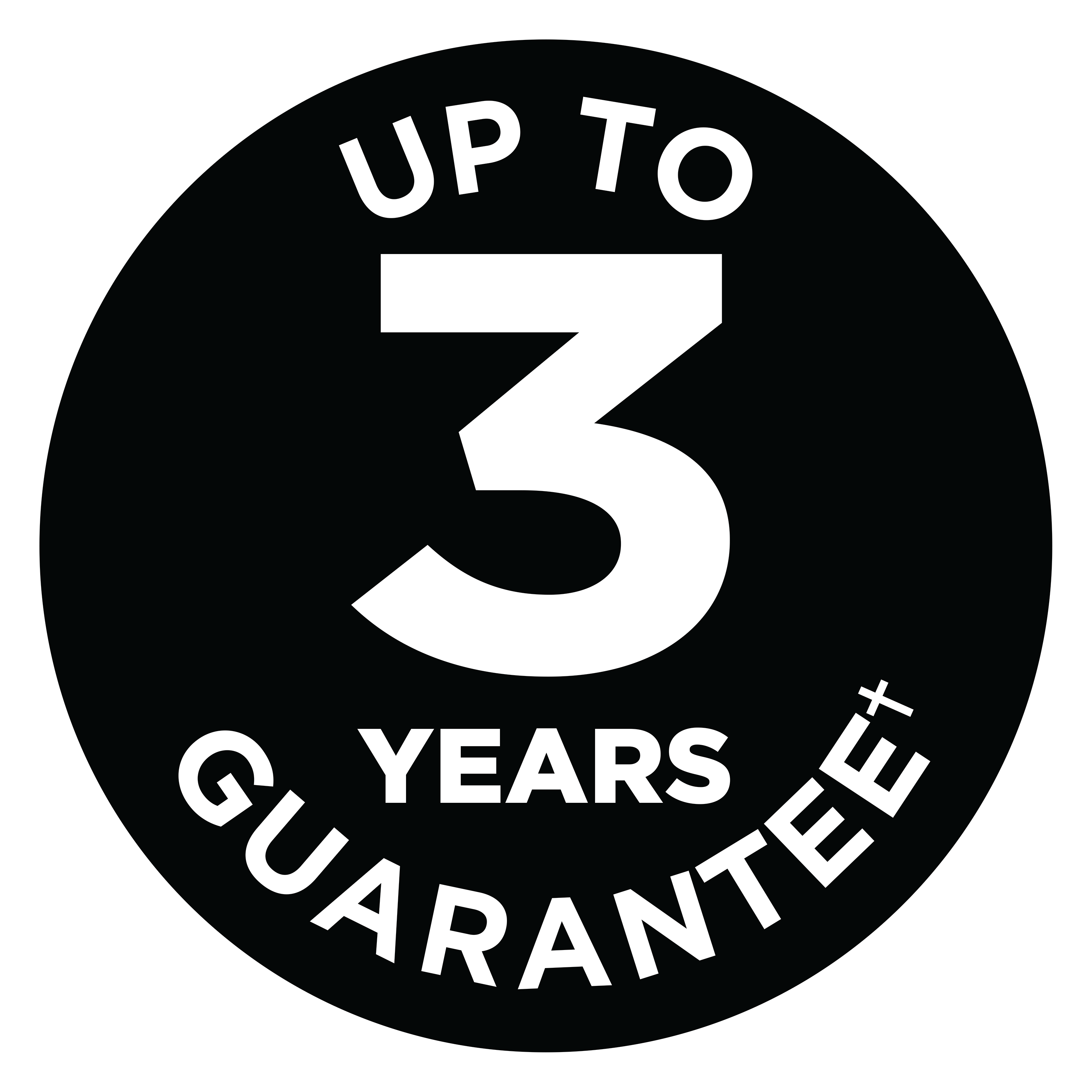 Up To 3 Years Guarantee