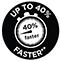 O 40 % rychlejší