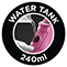 240 ml Wassertank