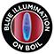 Blue illumination on boil