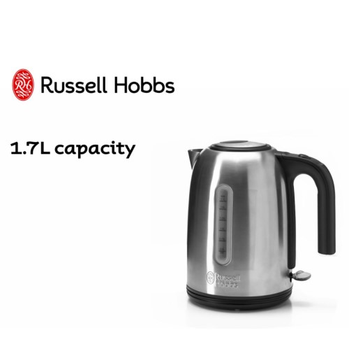 York Kettle Brushed 360° 20431AU - Russell Hobbs