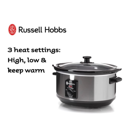 3.5L Slow Cooker 360° 4443BS - Russell Hobbs