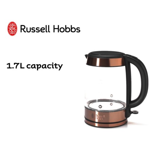 Brooklyn Glass Kettle 360° RHK172 - Russell Hobbs